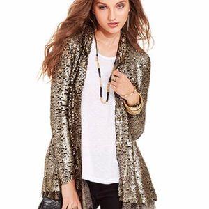 Free People Stardust gold Sequin Jacket/Blazer